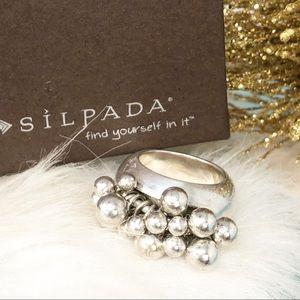Silpada Cha Cha Bead Ball Ring Sz 6 R1203 Sterling